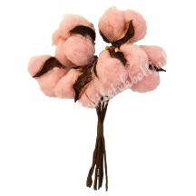 Gyapotszerű virág, rózsaszín
