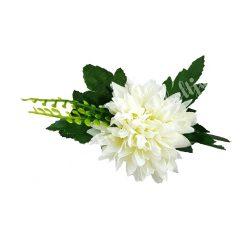 Fehér krizantém, zölddel