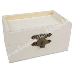 Minidoboz fa betéttel, 9x4,5x5,5