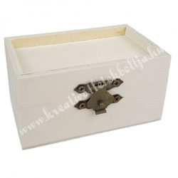 Minidoboz fa betéttel, 9x4,5x5,5 cm