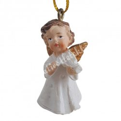Akasztós angyal hegedűvel, 2x4 cm