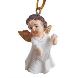 Akasztós angyal lanttal, 2x4 cm
