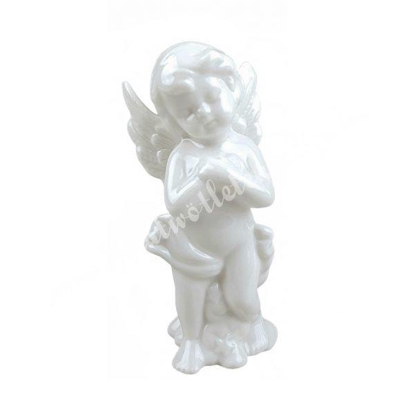 Porcelán angyal, álló, 5,5x12 cm
