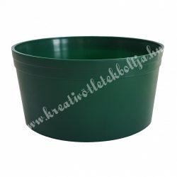 Zöld műanyag tál, 12 cm