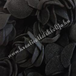 Habrózsa/ polifoam rózsa, fekete, 3 cm, 100db/csomag