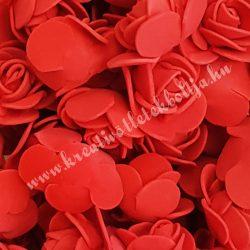 Habrózsa/ polifoam rózsa, piros, 3 cm, 100db/csomag