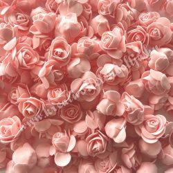 Habrózsa/ polifoam rózsa, puncs, 3 cm, 50db/csomag