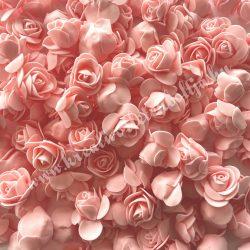 Habrózsa/ polifoam rózsa, puncs, 3 cm, 100 db/csomag