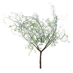 Ág glitteres, deres, zöld, 30 cm