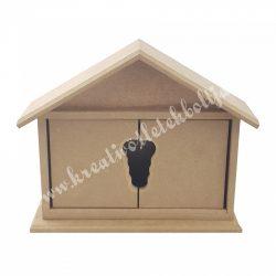 MDF házikó kulcstartó szekrény, 23x20x6,5 cm