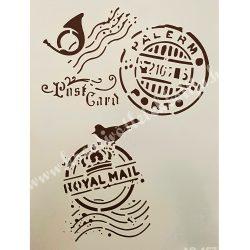 Stencil 21., Postai pecsétek, A4