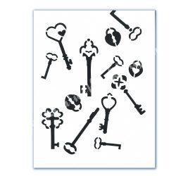 Stencil 123., Kulcsok, A4 (cadence)