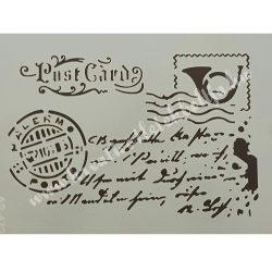 Stencil 15., Post Card, A4
