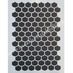 Stencil 57., Tetőcserép, A4