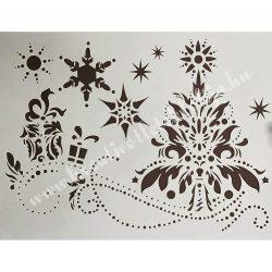Stencil 20., Csillagfénysugár, A4
