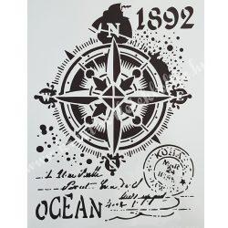 Stencil, iránytű, A4