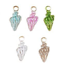 Fémmedál, tengeri csiga, 5 színben