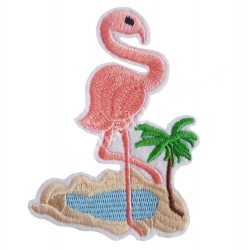 Vasalható matrica, flamingó, 7x10 cm