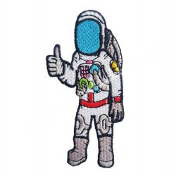 Vasalható matrica, űrhajós, 5x9,7 cm