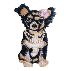 Vasalható matrica, kutyus, 4x6 cm