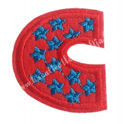 Vasalható matrica, C betű, 3,5x4 cm