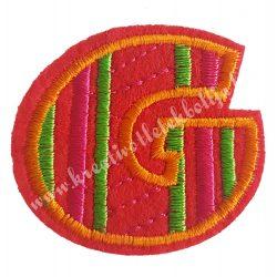 Vasalható matrica, G betű, 4,5x4 cm