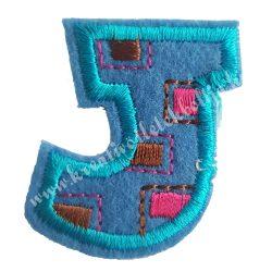 Vasalható matrica, J betű, 3,5x4 cm