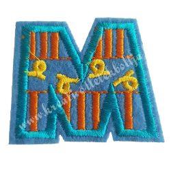 Vasalható matrica, M betű, 5x4 cm