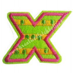 Vasalható matrica, X betű, 4,5x4 cm