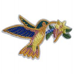 Vasalható matrica, kolibri, 9x7 cm