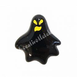 Ragasztható figura, fekete szellem, sárga szemmel