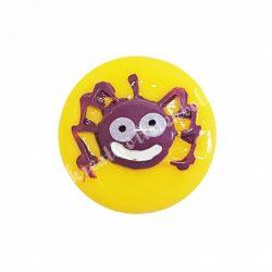 Ragasztható figura, lila pók