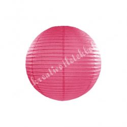 Lampion gömb, pink, 25 cm
