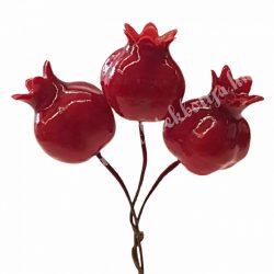 Gránátalma piros színben, 3db/csokor