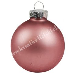 Karácsonyfadísz, üveggömb, mályva, 5 cm