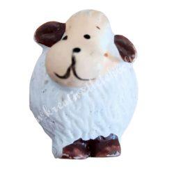 Ragasztható polyresin fehér bárány, 2x2,5 cm