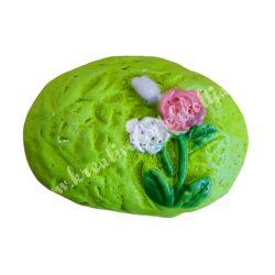 Ragasztható tojás, zöld, 2,5x1,5 cm