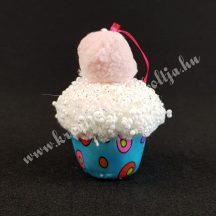 Akasztós textil muffin, kék