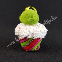 Akasztós textil muffin, piros