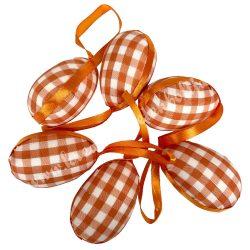 Akasztós fehér, narancssárga kockás tojás