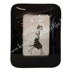 Üveg képkeret, fekete, 17x22 cm