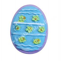 Ragasztható tojás, kék-lila, 2,5x3 cm