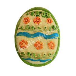 Ragasztható tojás, sárga-zöld, 2,5x3 cm
