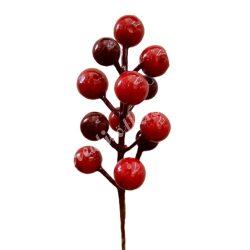 Beszúrós piros bogyós ág, 17 cm