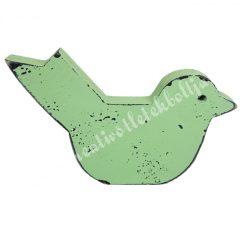 Antik hatású madárka, zöld, 14,5x10 cm