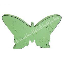 Antik hatású pillangó, zöld, 15x10 cm