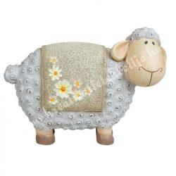 Polyresin bárány, szürke, 20x15 cm