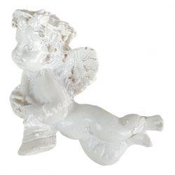 Fekvő angyal trombitával, 4x3,5 cm