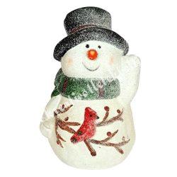 Kerámia hóember, fekete kalappal