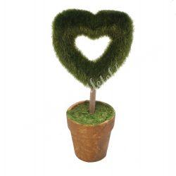 Cserepes dekor, szív alakú